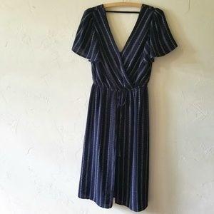SALE! Halo Blue Romper Dress Swimsuit Coverup